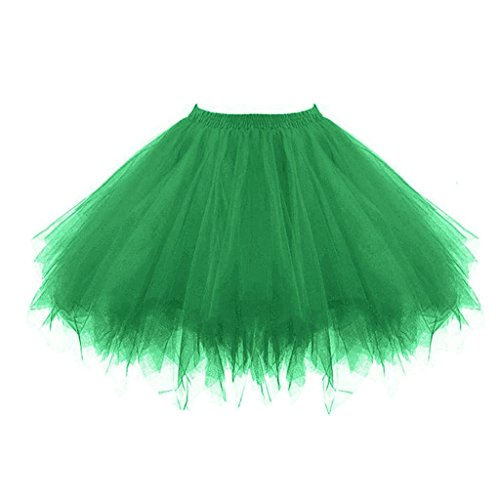 Topdress Women's 1950s Vintage Tutu Petticoat Ballet Bubble Skirt (26 Colors) Deep Green -