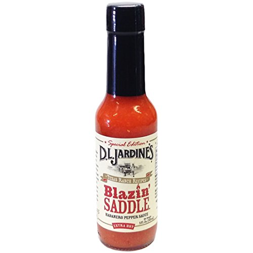 D.L. Jardines Blazin' Saddle Habanero XXX Hot Sauce 5 oz(Pack of 6)