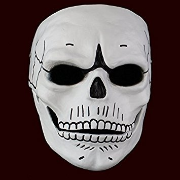 Smays James Bond 007 Film Spectre (2015) Similar Cosplay Mask Gift for Halloween Party, Masquerade, Stage Performance, Carnival and Bar (Polyresin, Hard Case / Strong / Heavy, White) -