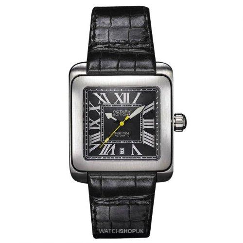 Men's Editions Automatic Tone Case Rectangle Watch Case Color: Silver, Hand Color: Silver tone