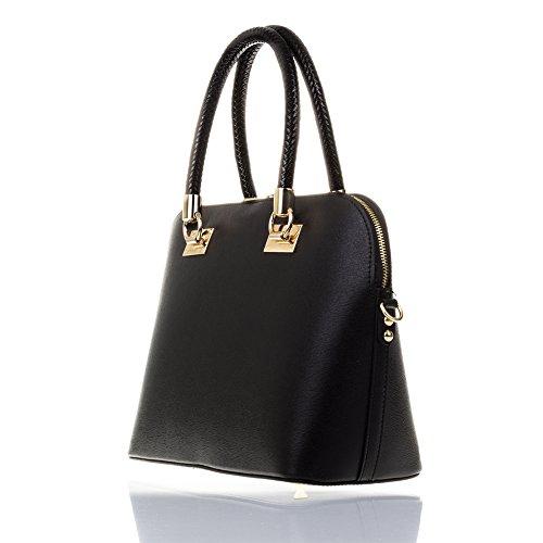 cm Bag TOTE ITALY Leather Genuine GENUINE Pink MADE LEATHER35x24x14 Negro Leather IN Soft Color ITALIAN FIRENZE Women handbag ARTEGIANI qSwZgg8f