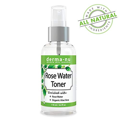 Moisturizer Derma Hydrating (Rose Water Toner For Face - Natural Anti Aging Facial Toner Spray For Women Enriched with Organic Aloe Vera - Organic Hydrating Pore Refining Toner Mist for Sensitive or Oily Skin)