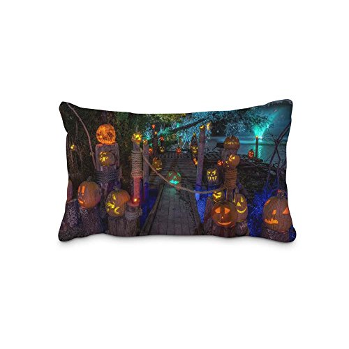 Festival Halloween Pillow Case Cover Queen Standard Size 2017 Pillow Protector 20x36inch(Twin Sides)With Hidden Zipper]()