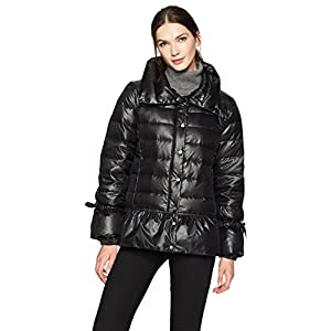 Haven Outerwear Women's Funnel Neck Down Jacket With Peplum