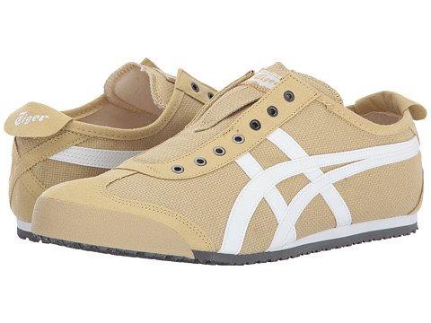 (オニツカタイガー) Onitsuka Tiger ユニセックスランニングシューズスニーカー靴 Mexico 66R Slip-On [並行輸入品] B0755NCJJH Men's 6, Women's 7.5 (24m(レディース24.5cm)) M Taos Taupe/White