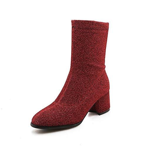 Red Femme Compensées Abl11176 Balamasa Sandales nawqHtBI