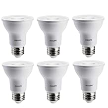 Philips 463679 50W Equivalent Soft White Dimmable Par20 Led Light Bulb 35° Beam Angle6 Pack