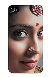 Awesome QccDm0aVMAL Walkintherain Defender Tpu Hard Case Cover For Iphone 4/4s- Women Eyes Actress Shriya Saran Bollywood Saree South Indian