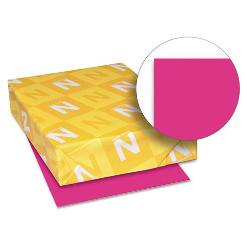 Neenah Paper - Astrobrights Colored Paper, 24lb, 8-1/2 x 11, Fireball Fuchsia, 500 Sheets/Ream 22681 (DMi RM by Neenah