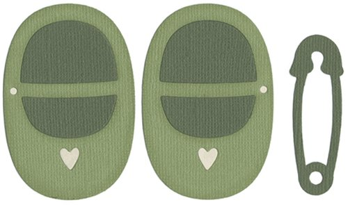QUICKUTZ We R Memory Keepers REV-0108-S 4 by 4 Dies, Baby Shoes and Pin ()
