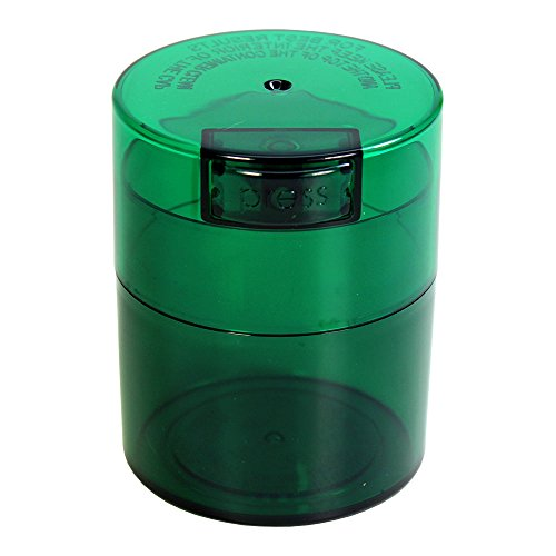 Tightvac - 1/2 oz to 3 ounce Airtight Multi-Use Vacuum Seal Portable Storage Container for Dry Goods, Food, and Herbs - Green Tint