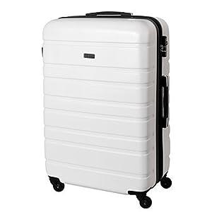 XXL Hard Sided Suitcase 120 Litre White 815 B: Amazon.co.uk: Luggage