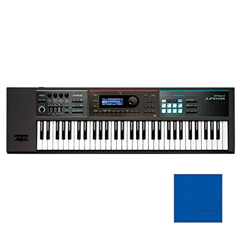 Roland JUNO-DS61 61-key Synthesizer w/Official Roland Brand Dust Coverwith Microfiber and 1 Year EverythingMusic Extended Warranty