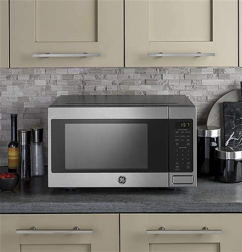 Ge - 1.6 Cu. Ft. Full-size Microwave - Stainless Steel