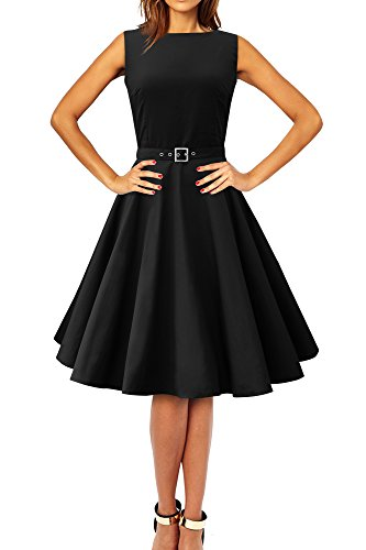 Clarity BlackButterfly Noir Vintage Annes Robe 'Audrey' 50 wqrIa1q