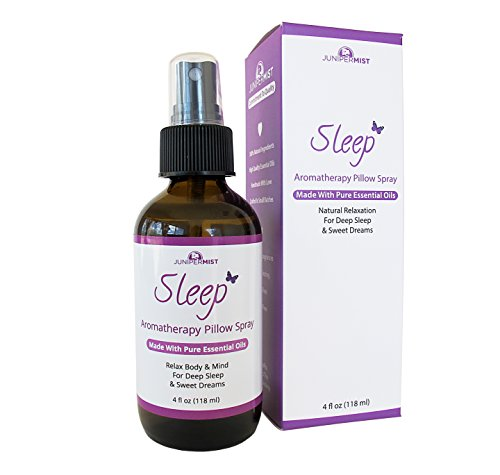 Sleep Spray Pillow Mist With Lavender (4oz) – All Natural Sleep Aid - Relaxing Blend Of Essential Oils Calm Body & Mind – Great Stress Relief For Kids & ()