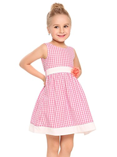 Girls Pink Plaid Shorts - 9