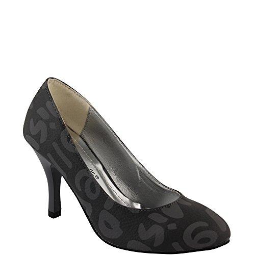 Unbekannt - Zapatos de vestir de Material Sintético para mujer Negro - negro