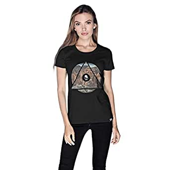 Creo Almaty Mountain City T-Shirt For Women - L, Black