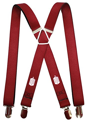 Doctor Who - Tardis Burgundy Suspenders Novelty 1 x 70in