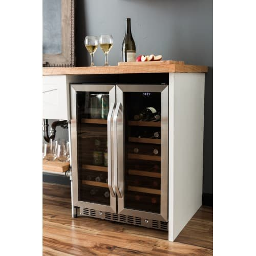 EdgeStar CWB1760FD 24 Inch Built-In Wine and Beverage Cooler with French Doors by EdgeStar (Image #2)