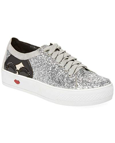 alice + olivia Stace Taylor Glittered Sneaker, 40.5
