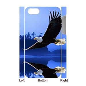 Bald Eagle DIY 3D Cover Case for Iphone 4,4S,personalized phone case ygtg579664