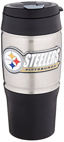 NFL Pittsburgh Steelers 18-Ounce Travel (Pittsburgh Steelers Travel Mug)