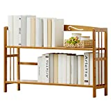 DULPLAY Table Wood en Bookshelf,Multifunctional Children's Shelves Storage Rack Adjustable Easy Assembly Floor-Standing for Home or Office -C 80x25x60cm(31x10x24inch)