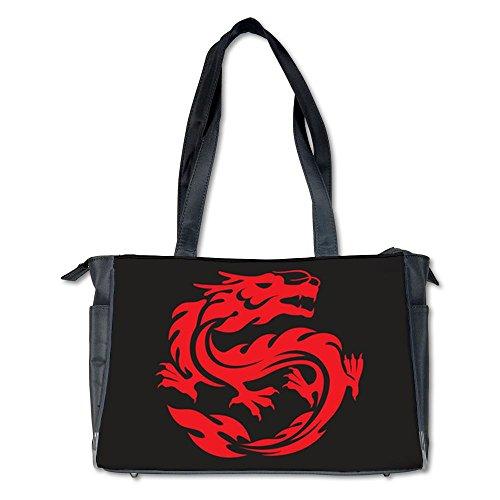 Diaper Bag Tribal Red Dragon