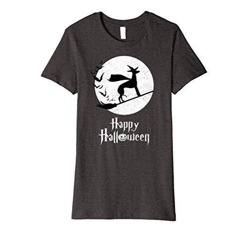 Womens Witch Funny Halloween Costume T-Shirt GREYHOUND Lovers XL Dark Heather