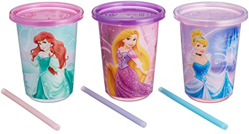 Disney fan fan party straw cup Disney Princess set