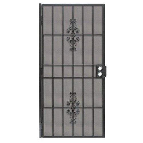 PRECISION SCREEN & SECURITY PROD 3853BK3068 Steel Security Door, 39 x 81-3/4''