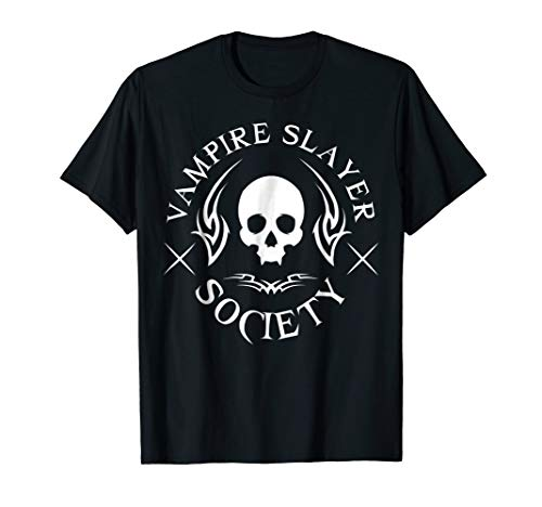 Halloween Vampire Slayer Society Vampire Hunter Skull Tshirt