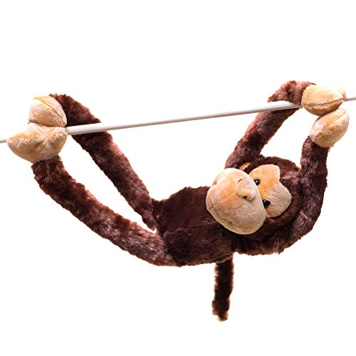 28-Inch Hanging Monkey Stuffed Animal - Monkey Toy With Specially Designed Ultra Soft Plush Feel For Kids - Hands And Feet Connect Together - Bring These Popular Monkeys Home To Boys & Girls Ages 3+ ()