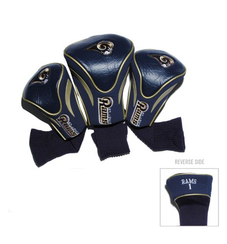 NFL St. Louis Rams 3 Pack Contour Fit Headcover
