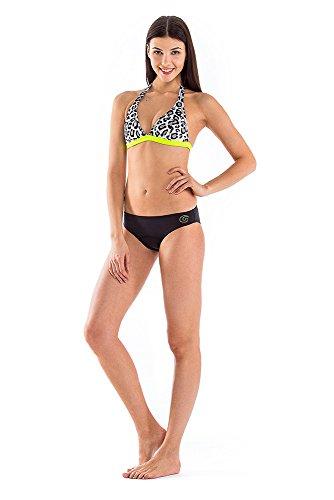 GLIDESOUL Mujer 0,5mm Bikini Top Leopard/Lemon