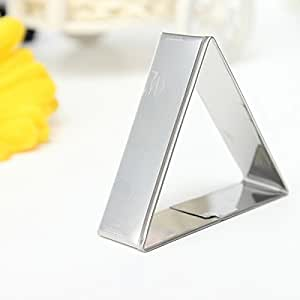 3 Pcs Triangle Stainless Steel Cookie Cake Biscuit Cutter Mold Set