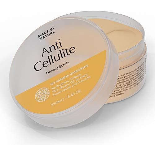 Anti-Cellulite Straffendes Peeling - MADE BY NATURE Körperpeeling - Straffere, spannende Haut - verjüngende Wirkung – Ganz natürliche Inhaltsstoffe in Premium-Qualität - Einfach anzuwenden