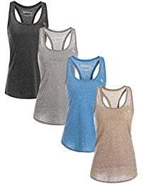 Women's Racerback Workout Tank Tops - Activewear Shirts for Yoga Sport Running Exercise Gym
