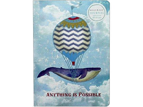Molly & Rex Soft Cover Journal Whale Balloon Journalwhaleballoon