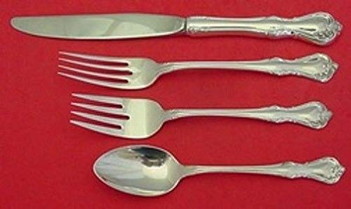 Rose Cascade By Reed and Barton Sterling Silver Regular Size Place Setting 4pc ()