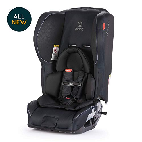 Diono Rainier 2AX Convertible Car Seat - Extended Rear-Facing 5-50 Pounds, Forward-Facing to 65 Pounds - Ultimate Luxury, All Star Safety, Black