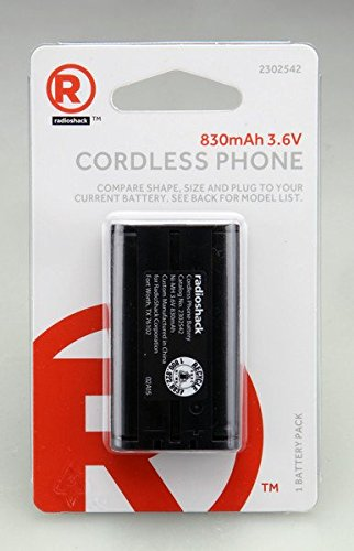 RadioShack 3.6V/830mAh NiMH Battery Panasonc HHR-P104A