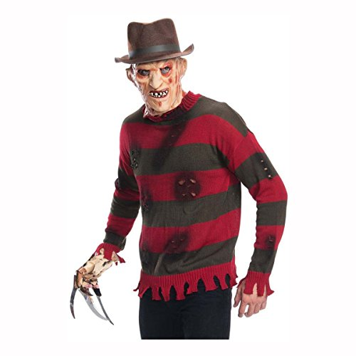 Forum Novelties Men's Deluxe Adult Plus Freddy Sweater, Red/Brown, X-Large - Adult Freddy Sweater