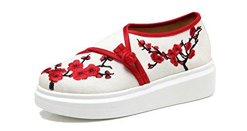 para Lona Crown Zapatillas Beige Mujer de Tianrui wIaOFqPn