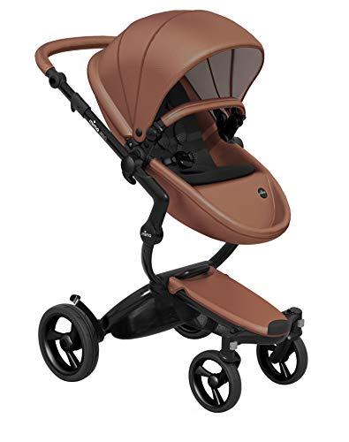 Mima Xari Stroller (Black Chassis, Camel Seat, Black Starter Pack)