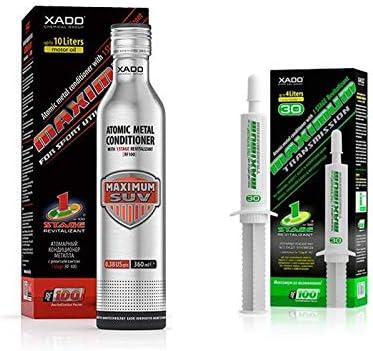 XADO Set 1 aditivo 1Stage Maximum SUV + 1 protección para cajas de ...