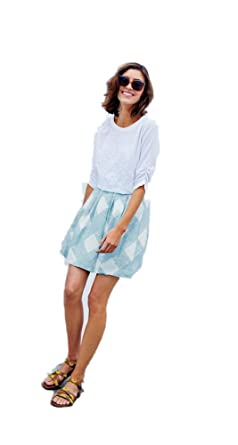c680952c25 Image Unavailable. Image not available for. Color  Boden Women s Blue White  Lily Skirt ...