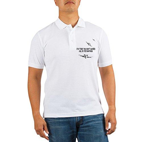 CafePress - A-10 Warthogs USAF Golf Shirt - Golf Shirt, Pique Knit Golf Polo ()